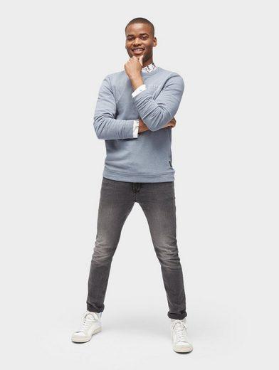 Tom Tailor Denim Sweatshirt Langarmshirt mit Schriftzug