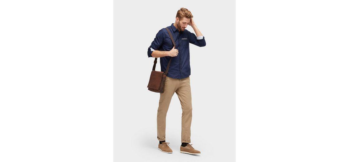 Spielraum Klassisch Für Billig Günstig Online Tom Tailor Langarmhemd gemustertes Hemd mit Brusttasche PniTk