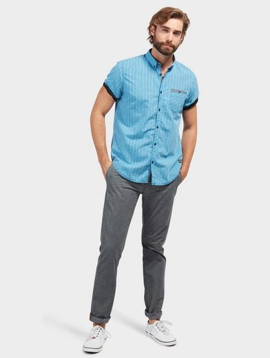 Tom Tailor Short-sleeved Shirt With Caro Pattern