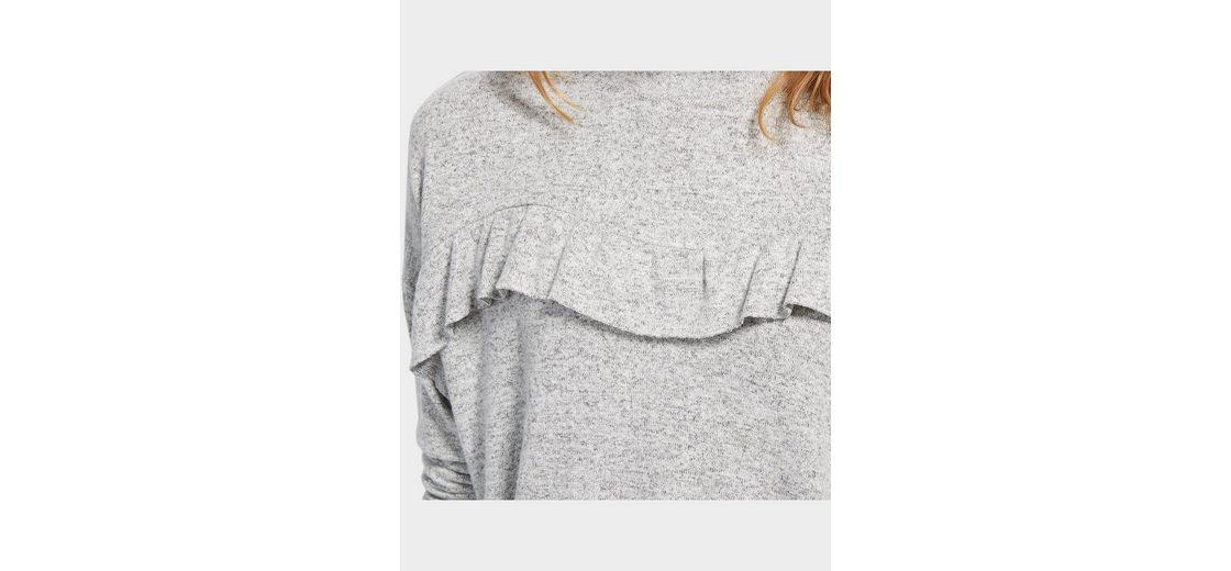 Tom Tailor Denim Sweatshirt mit Rüschen-Aufsatz Mit Paypal Freiem Verschiffen Günstiger Preis Store ozZeGjLPqj