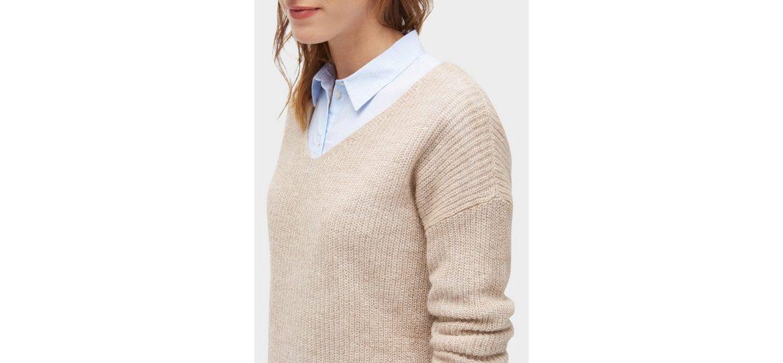 Tom Tailor Strickpullover Pullover mit V-Ausschnitt Genießen Online-Verkauf ETGKMWw2r