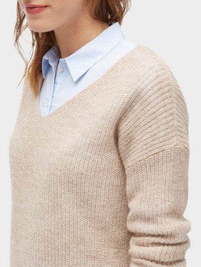 Tom Tailor Strickpullover Pullover mit V-Ausschnitt