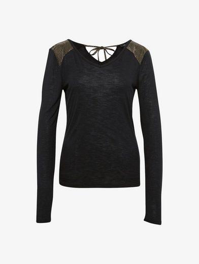 Tom Tailor Langarmshirt Naomi Campbell: Chemise Avec Des Détails