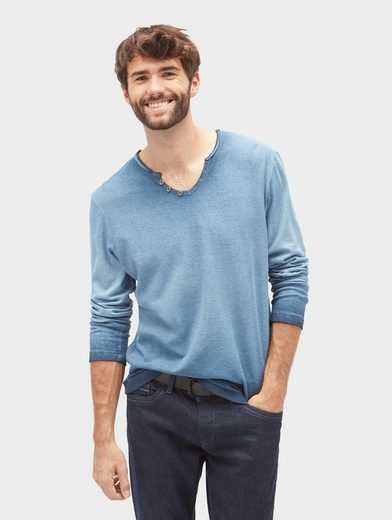 Tom Tailor Langarmshirt mit Farbverlauf