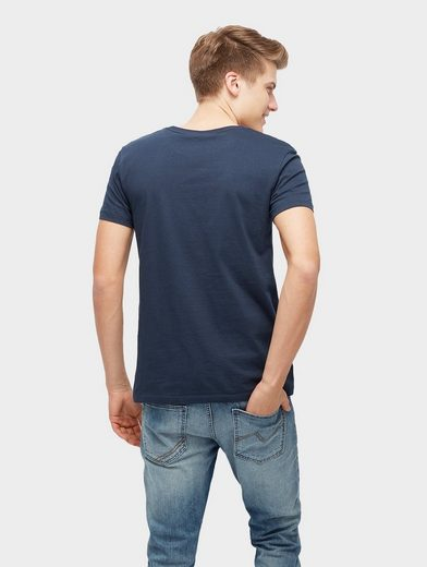 Tom Tailor Denim T-Shirt T-Shirt mit Pigment-Print