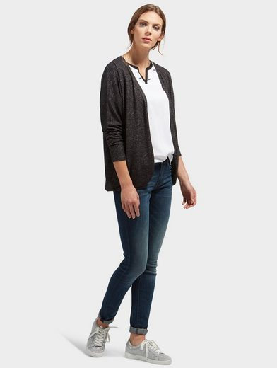 Tom Tailor Langarmshirt Cardigan in Melange-Optik
