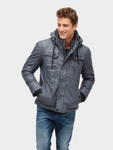 Tom Tailor Allwetterjacke 2-in-1 Jacke mit anbehmbarer Kapuze