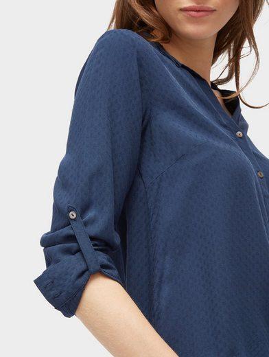 Tom Tailor Langarmbluse Bluse mit elastischem Bund am Saum
