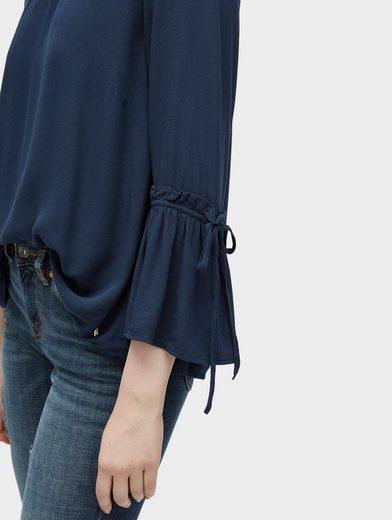 Tom Tailor Denim Shirtbluse Bluse mit Volantärmeln