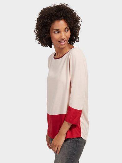 Tom Tailor Shirtbluse Bluse in Colour-Block-Optik