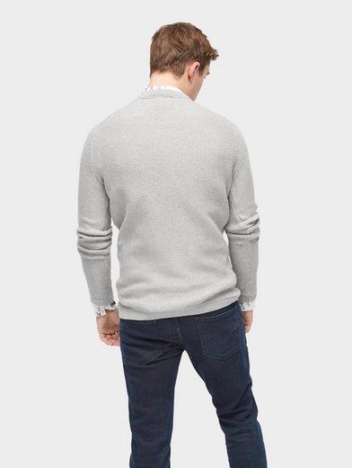 Tom Tailor Denim Rundhalspullover Pullover mit Struktur