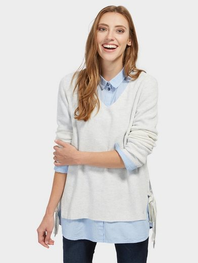 Tom Tailor Denim Knitted Sweaters With Side Lacing