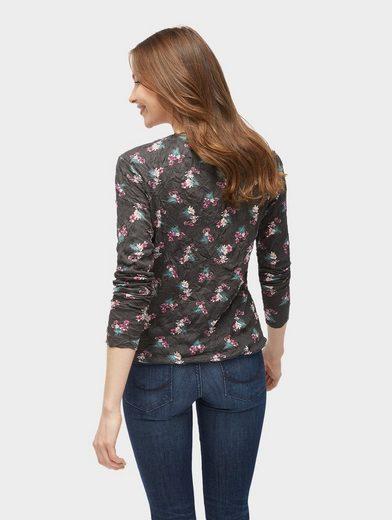 Tom Tailor Langarmshirt Bluse mit floralem Muster