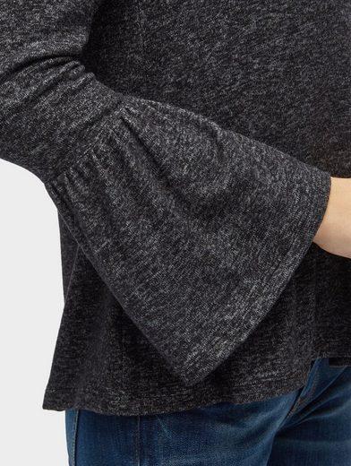 Tom Tailor Langarmshirt Langarmshirt mit Volant-Ansatz