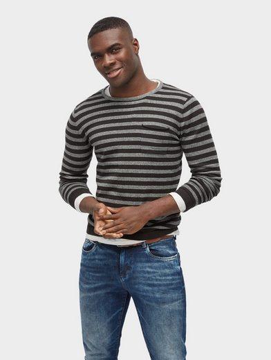 Tom Tailor Strickpullover gestreifter Pullover
