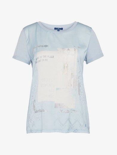 Tom Tailor T-Shirt Loose-Fit mit Artwork