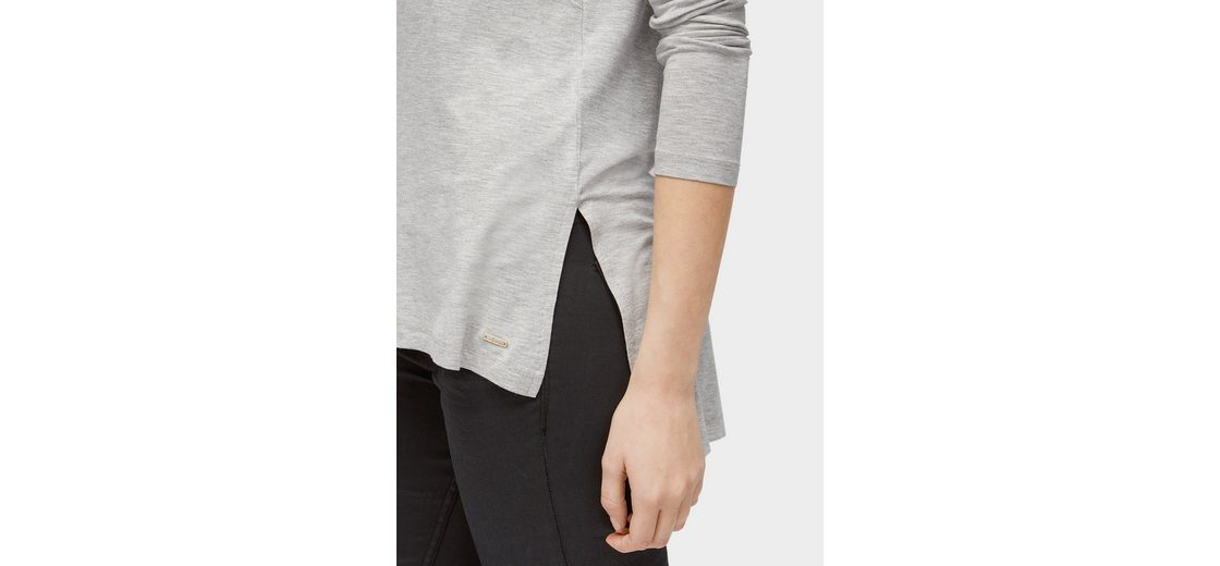 Tom Tailor Denim Langarmshirt Langarmshirt in Melange-Optik Schnelle Lieferung Günstig Online QkUmdw