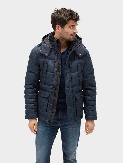 Tom Tailor Allwetterjacke Jacke mit abnehmbarer Kapuze