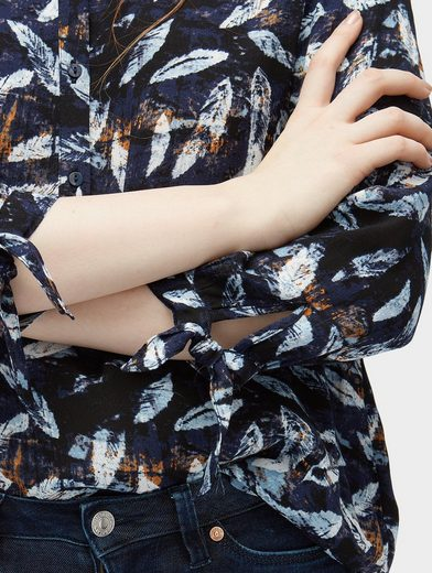 Tom Tailor Denim Shirt Blouse Blouse With Bows-details