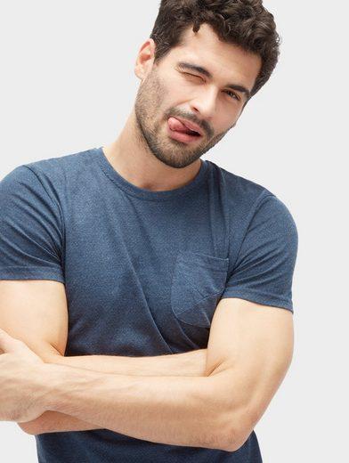 Tom Tailor T-Shirt meliertes T-Shirt mit Brusttasche