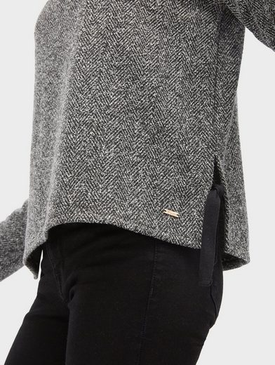 Tom Tailor Denim Sweater Sweatshirt mit Bindeband