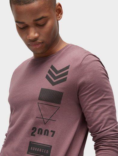 Tom Tailor Denim Langarmshirt mit Motiv-Print