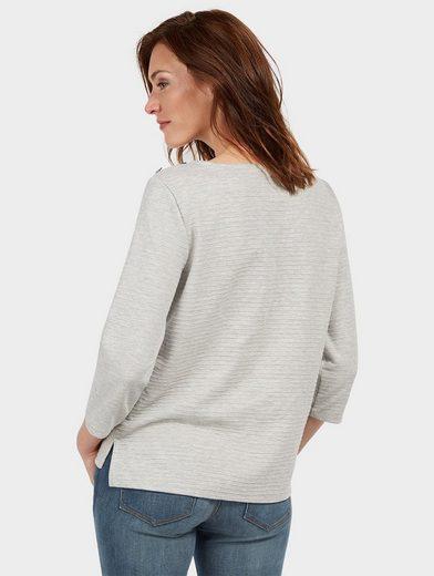Tom Tailor Sweater mit Knöpfen und Struktur