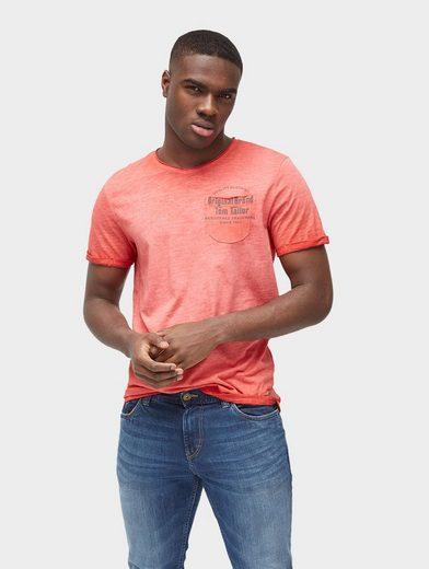 Tom Tailor T-Shirt T-Shirt mit Brusttasche und Print