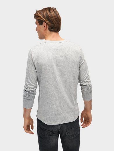 Tom Tailor Denim Langarmshirt Langarmshirt mit Schrift-Print