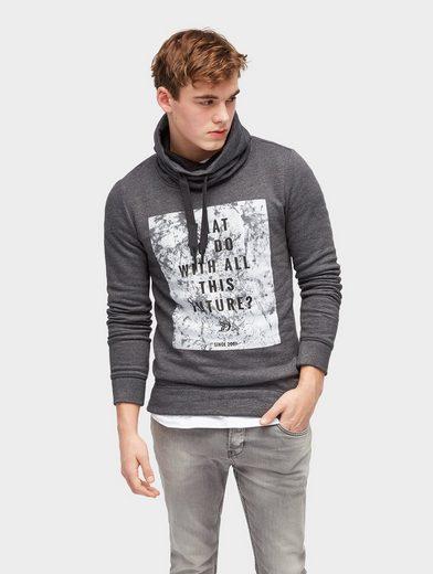 Tom Tailor Denim Sweater Hoodie mit Print