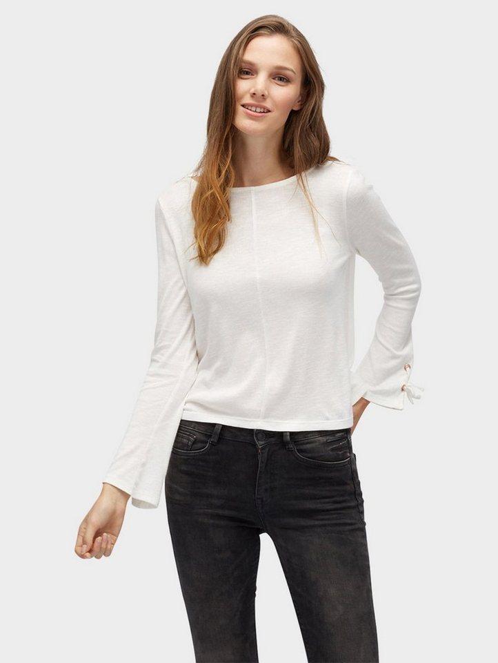 tom tailor denim t shirt mit ausgestellten rmeln online. Black Bedroom Furniture Sets. Home Design Ideas