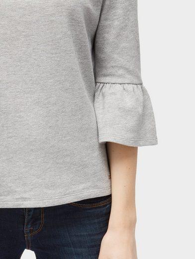 Tom Tailor Denim 3/4-Arm-Shirt mit Volant-Ärmeln