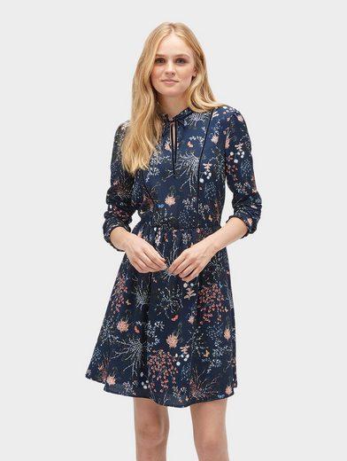 tom tailor denim blusenkleid »kleid mit floralem muster