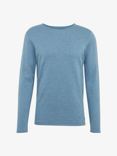 Tom Tailor Denim Rundhalspullover Pullover mit Rollkanten