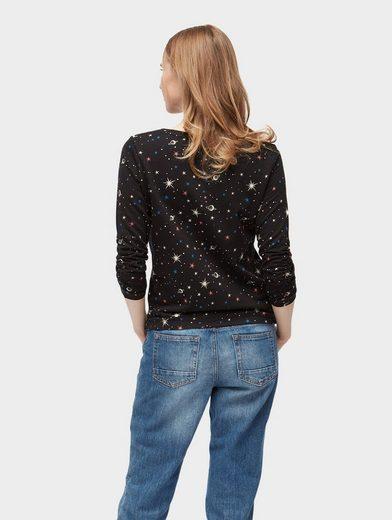 Tom Tailor Denim Sweater Sweatshirt mit Galaxie-Print