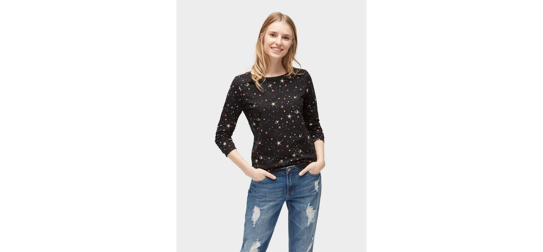 Preiswerte Qualität Webseiten Tom Tailor Denim Sweater Sweatshirt mit Galaxie-Print TEoErr0a7t