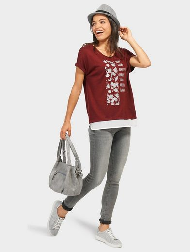 Tom Tailor T-Shirt mit Glitzer-Print