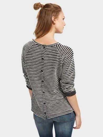 Tom Tailor Denim Sweatshirt With Stripe Pattern