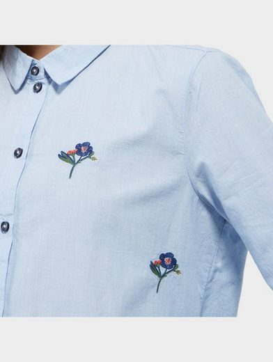 Tom Tailor Denim Langarmbluse mit floraler Stickerei
