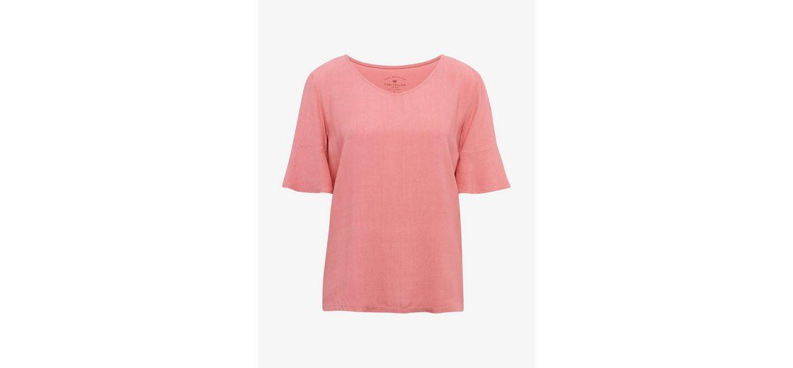 Tom Tailor T-Shirt mit Volant-Ärmeln Kaufen Preiswerte Qualität Angebote Limitierte Auflage Online-Verkauf Freies Verschiffen Erkunden UJOj9b8y