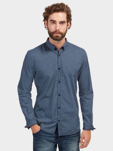 Tom Tailor Langarmhemd mit dezentem Muster