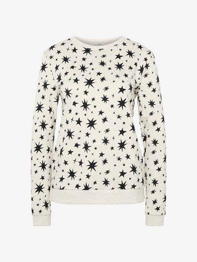 Tom Tailor Denim Sweatshirt With Stars-pattern