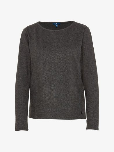 Tom Tailor Sweater in Herringbone-Muster
