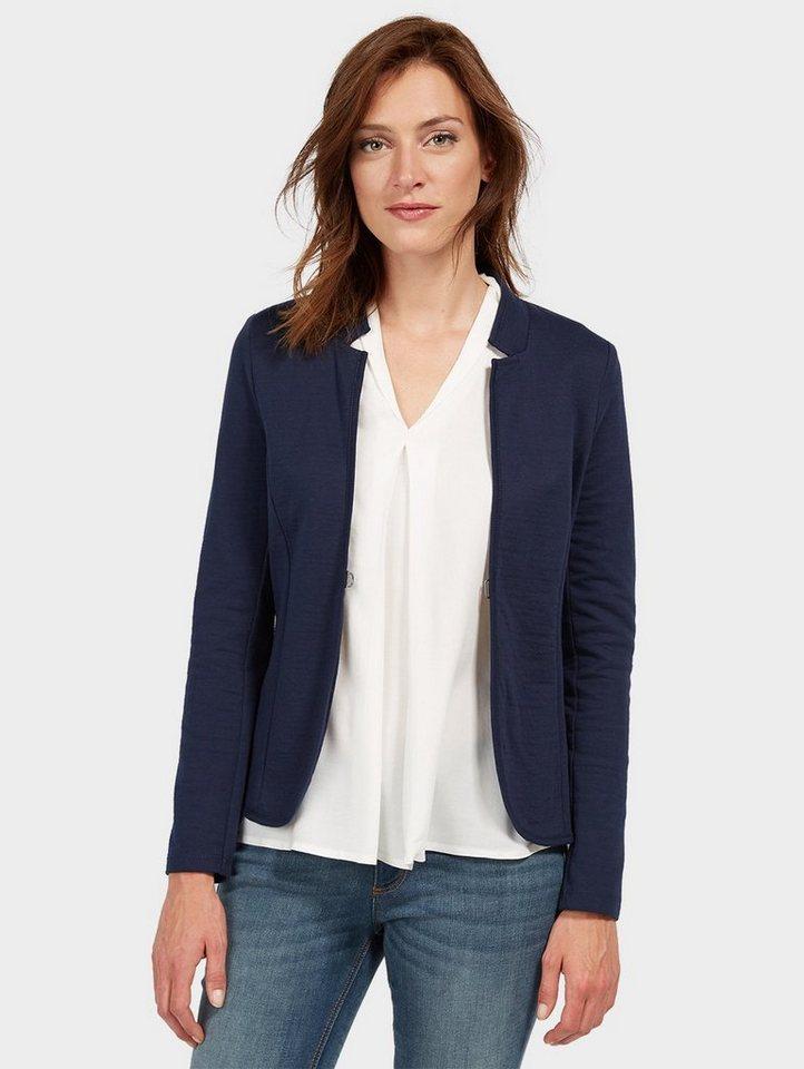 Tom Tailor Jackenblazer »im schlichtem Design« | Bekleidung > Blazer > Jackenblazer | Blau | Baumwolle | Tom Tailor