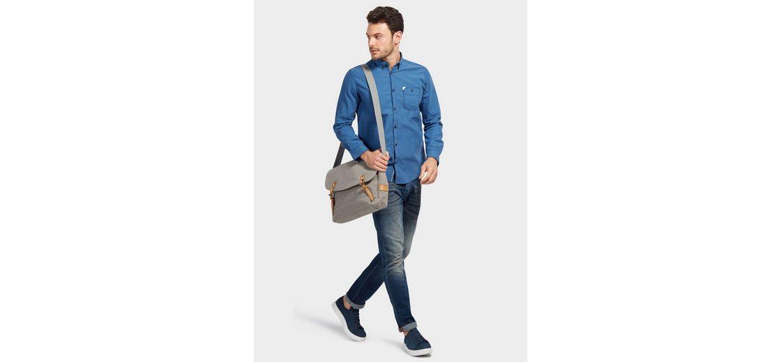 Tom Streifen Langarmhemd Langarmhemd mit Streifen Tailor Tailor mit und und Brusttasche Brusttasche Tom Tom rarqzP6w