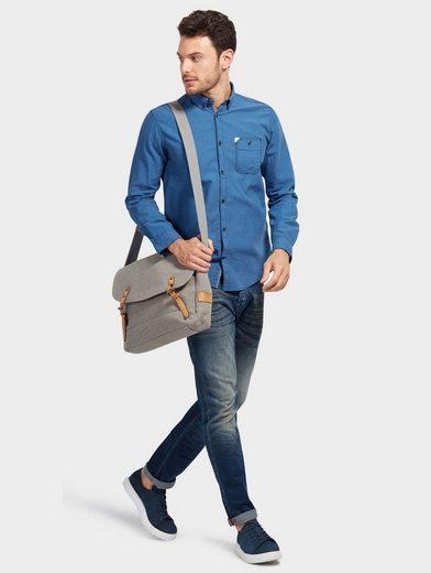Tom Tailor Langarmhemd mit Streifen und Brusttasche