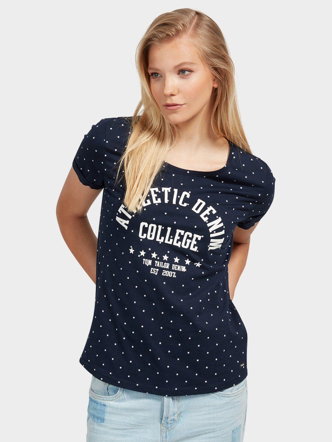 Tom Tailor Denim T-Shirt »mit Schrift-Print«
