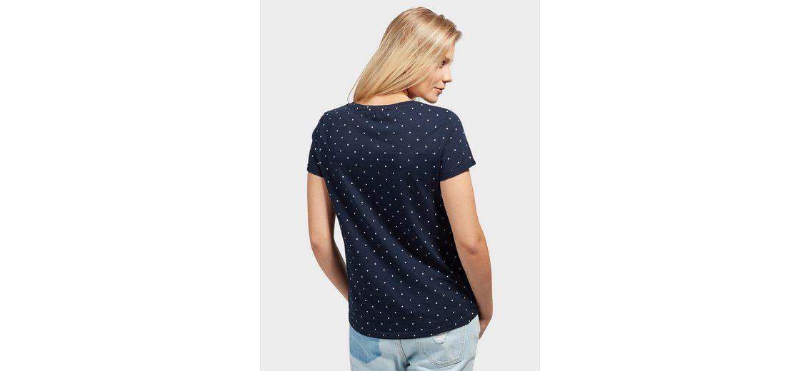 Tom Tailor Denim T-Shirt mit Schrift-Print Billig Rabatt Authentisch nR3DFKsryt