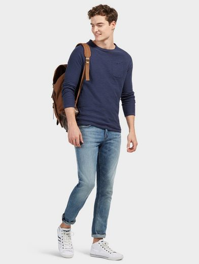 Tom Tailor Denim Rundhalspullover mit Brusttasche
