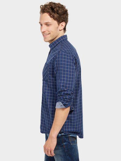 Tom Tailor Langarmhemd kariertes Hemd mit Brusttasche